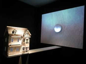 Zoe Zhang Bing + Jiang Hongqing, Let's Live – Doll House, 2010, wood, multi-media.
