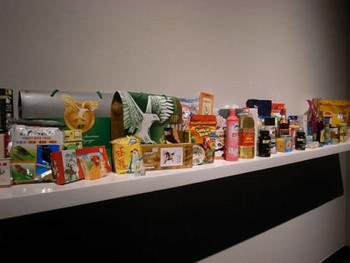 Li Jinghu, Noah's Ark, 2010, installation of ready-found everyday products, 300 x 50 x 30 cm.