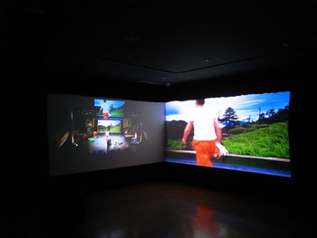 Yeondoo Jung, Cinemagician, 2010, two-channel video installation.