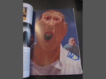 A visitor turned Fang Lijun's yawning figure into a police officer