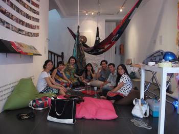 (L-R) Linda Lee, Jaffa Lam, Susanna Chung, Lena Bui, Tran Minh Duc, Nguyen Huu Nghia, and Nguyen Kim To Lan