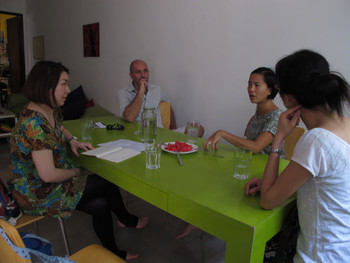 Meeting with artist group Wonderful District
