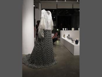 Truong Tan, Wedding Dress from Post Vidai Collection, 2002, metal, silk, lace