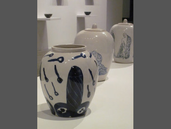 Truong Tan, Untitled from Post Vidai Collection, 1996, ceramic vases (detail)