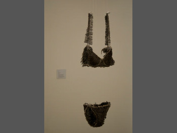 Nguyen Phuong Linh, Allergy, 2009, lingerie, 5 kg of nails, plastic chemical glue (composite). photo courtesy: Galerie Quynh
