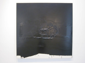 Thierry Bernard Gotteland, Untitled [Pit Stop & Go to Hell], 2009, enamel paint on canvas