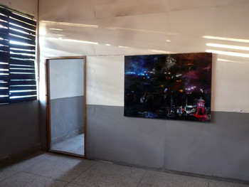 Kim Jin-ki, Night of Soryong-dong and Naoon-dong, 2011, mixed media on panel, installation view