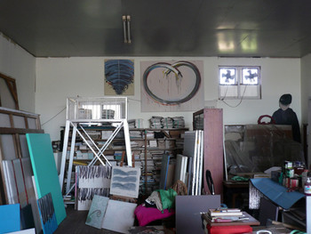 View of Lee's studio