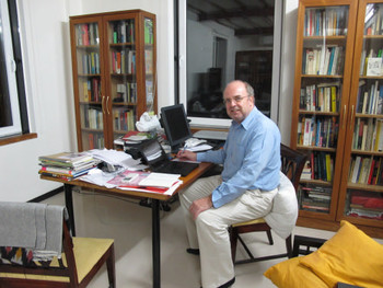 Curator Johan Pijnappel in his study