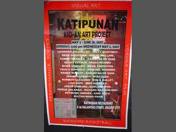 Poster of an exhibition at Katipunan.