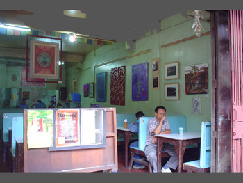 View of Katipunan with works by Baguio artists.