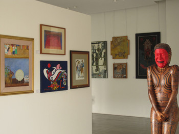 View of the Bencab Museum's permanent collection of Philippine contemporary art.