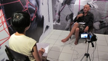 Interview with W. Christiawan in Aesbesto Art Space, Bandung.