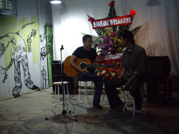 Live music performance at the opening party.