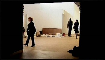 Exhibition set-up, film still, 1997.*