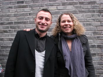 Gallery Director Enrico Polato with artist Tracey Snelling