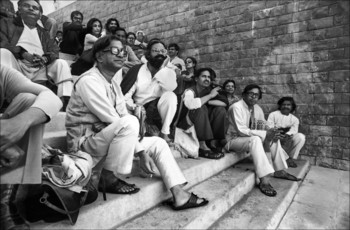 Artists at inauguration of Bharat Bhavan, Bhopal, 1982.