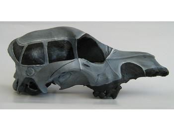 Sedan III from Safe House: Flora & Fauna III, 2008, oil on dog skull