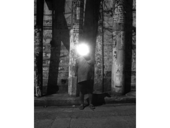 Image: <i>Anonymity</i> series, 2005, photographic transparency.