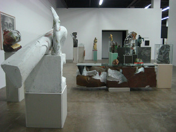 Installation view of Matthew Monahan section of his 23 works.
