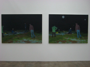 Jina Park, Moontan series, 2008, oil on canvas.