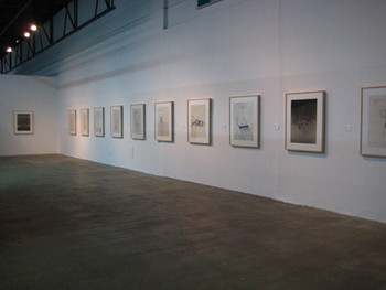Installation view, Atul Dodiya, 2008, watercolour, 101 x 56 cm.