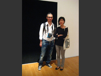 Taiwan artist Meng-Hung Sam Su and Chantal Wong.
