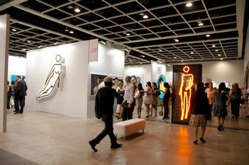 A view of Lisson Gallery's booth
