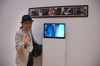 Sung Neungkyung (Korea) and his work <i>S's Day</i> at Performance Art in Asia: Exhibition by Invitation 2008.