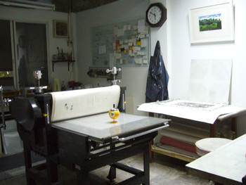 View of Chiang Mai Art on Paper, a printmaking studio and gallery.