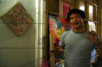 Mitre Jai-In in his studio.
