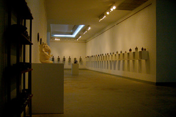 View of the Art Centre's recent show, 'Spontaneous Works' by Supaisarn Kaikunthod.