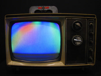 Nam June Paik, Magnet TV, 1965 (1969), installation.