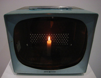 Nam June Paik, TV Candle, 1975.