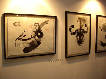 Raghava K K's paintings shown by Art Musings (Mumbai)