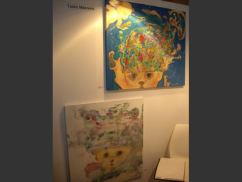 Taeko Maezawa's paintings on display at Shonandai MY Gallery (Tokyo)