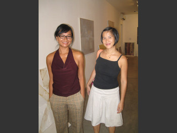 Galerie Quynh Director, Quynh Pham with artist Sandrine Llouquet