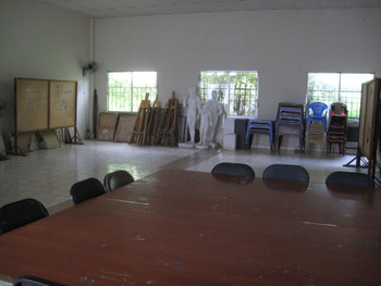 The studio and lecture room at the Fine Arts Association can be rented out for talks and events