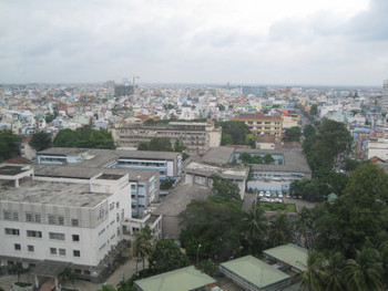 View from HCMC University's new building