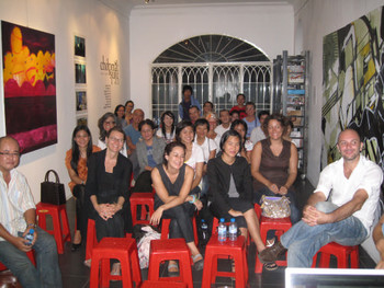 Audience for talk at San-Art introducing AAA