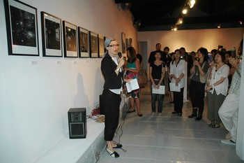 Image: Speech at the opening by Cornelia Erdmann, Gallery Manager of 1a Space.