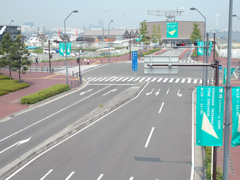 The access road to the main venues of Yokohama Triennale.