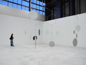 Cerith Wyn Evans and Throbbing Gristle, A=P=P=A=R=I=T=I=O=N, 2008, sound installation, Shinko Pier.