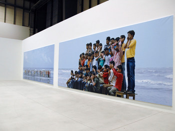 Shilpa Gupta, Don't See Don't Hear Don't Speak, 2008, photograph, Shinko Pier.