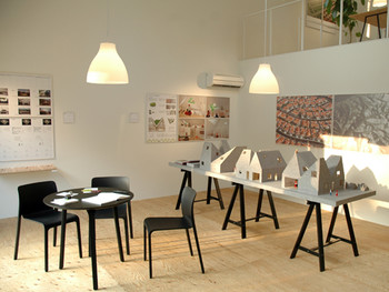 Interior of the Triennale Information Centre, Unga Park.