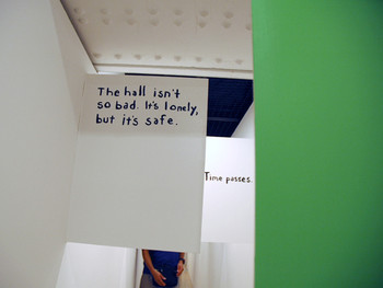 Miranda July, The Hallway, 2008 (detail) installation, Red Brick House No.1.