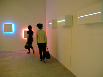 Kosugi Takehisa, Resonance, 2008, sound and light installation, BankART Studio NYK.