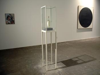 Left to right: Rodney Graham, Still, 1962, painting, and Potato Vodka, 2006