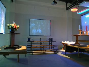 Mike Kelley, Candle Lighting Ceremony, 2008, mixed-media installation, Shinko Pier.