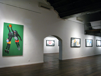 Exhibition view of 'Natural: New Paintings' by Munkao & Saharil Hasrin Sanin' at the Annexe Gallery